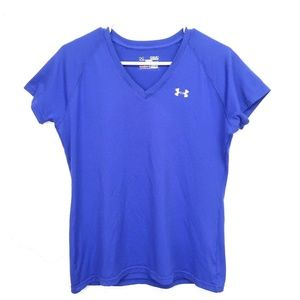 Womens UNDER ARMOUR Royal Blue Compression S/S Ath